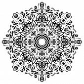 pic of damask  - Damask vector floral pattern with arabesque and oriental elements - JPG