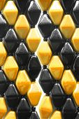 image of beads  - Yellow and black beads as a background - JPG