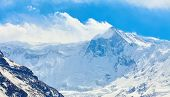 image of snow capped mountains  - Snow capped mountains - JPG