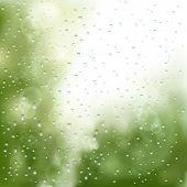 pic of raindrops  - raindrops on the window - JPG