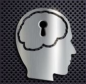 picture of keyholes  - human head with a keyhole - JPG
