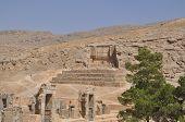 foto of xerxes  - Ruins of historic city of Persepolis - JPG