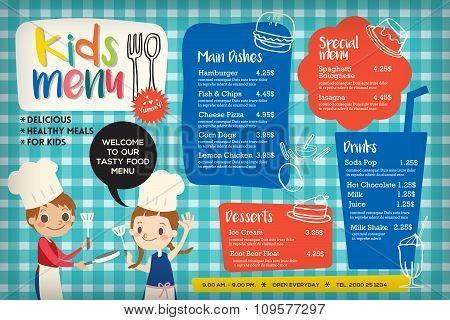 Cute colorful kids meal menu template poster id109577297 cute colorful kids meal menu template poster maxwellsz