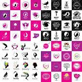 set of logos Beauty poster