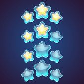 Постер, плакат: Star Vector Logo Set Icon