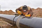 ������, ������: Welding Works On Gas Pipeline