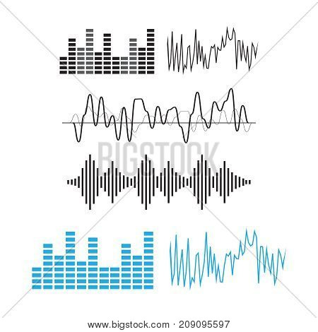 poster of Wave Sound Pattern. Sound Waves Concept. Sound Waves Vector