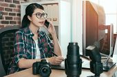 Beautiful Young Female Photo Design Editor poster