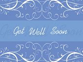 foto of get well soon  - abstract blue floral pattern background for get well soon - JPG