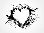 stock photo of corazon  - grungy heart for valentine day - JPG