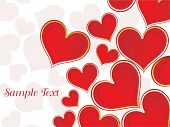 stock photo of valentines day card  - vector illustration of wallpaper for valentine day - JPG