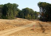 image of land development  - Land being cleared for a new housing development - JPG