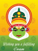 stock photo of pookolam  - beautiful illustration for happy onam - JPG
