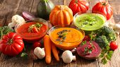 assorted vegetable soup poster