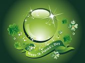 picture of st patrick  - abstract element background for happy st - JPG