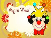 abstract creative artwork background for april fools day with joker face