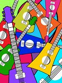 picture of stratocaster  - abstract colorful guitar pattern background - JPG