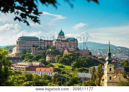 poster of Budapest, Hungary: View Of Buda Castle, The Historic Royal Palace In Budapest. Historical Castle And