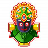 Lord Jagannath - Lord Of The Universe, Indian God. Ratha Yatra Hindu Festival In Puri. Colorful Vect poster