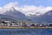 stock photo of tierra  - The Beagle Channel develops between several islands - JPG