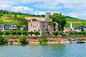 Rheingau Wine Museum, Winery And Vineyards In Rudesheim Am Rhein Town In The Rhine Valley, Germany poster