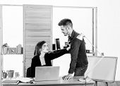 From Platonic Friendship Into Romantic Love. Romantic Couple Conducting Workplace Affair. Boss And S poster