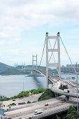 picture of tsing ma bridge  - Tsing Ma Bridge in Hong Kong - JPG