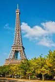 Постер, плакат: Эйфелева башня в голубое небо