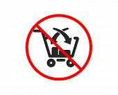 No Or Stop. Cross Sell Icon. Market Retail Sign. Prohibited Ban Stop Symbol. No Cross Sell Icon. Vec poster