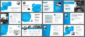 Presentation And Slide Layout Template. Design Blue Gradient In Paper Shape Background. Use For Busi poster