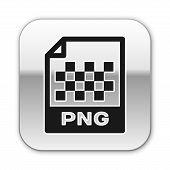 Black Png File Document Icon. Download Png Button Icon Isolated On White Background. Png File Symbol poster