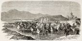 picture of algiers  - Arab leaders going to Algiers to meet Napoleon III - JPG