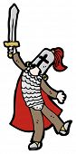 foto of arthurian  - cartoon knight with sword - JPG
