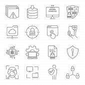 Linear Internet Icons Set. Universal Internet Icon To Use In Web And Mobile Ui. Internet Icons Sign. poster