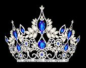 picture of precious stone  - illustration tiara crown women - JPG