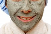 foto of mud pack  - The clay face mask effect to have a healthy skin - JPG