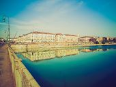pic of turin  - Vintage looking Fiume Po  - JPG