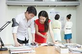 image of button down shirt  - Business People Working in Creative Office - JPG