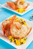 pic of lobster tail  - Lobster tails with mango salsa - JPG