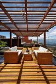 stock photo of pergola  - Interior design - JPG