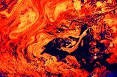 Abstract surface of hot planet.