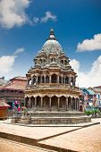Chyasim Deval Krishna Temple was built in 1723 built in the Shikara style by King Vishnu Malla at Du