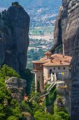 stock photo of hermit  - The Holy Monastery of Rousanou  - JPG