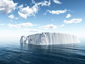 image of iceberg  - The big iceberg on the open ocean - JPG