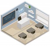 pic of isometric  - Vector isometric classroom icon - JPG