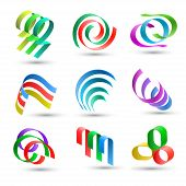 pic of plexus  - Set of abstract colorful lines icons - JPG