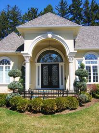 pic of front door  - decorative front door - JPG