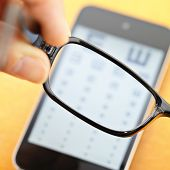 Eyechart on mobile with eyewear