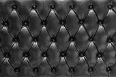 stock photo of mattress  - Genuine leather upholstery background for a luxury decoration - JPG