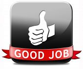 image of job well done  - good job great work well done button - JPG